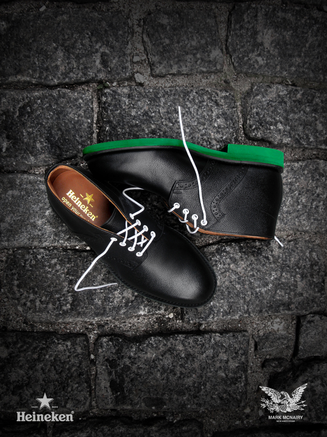 #Heineken100 Mark McNairy Black Chukka Saddle Boots Overhead