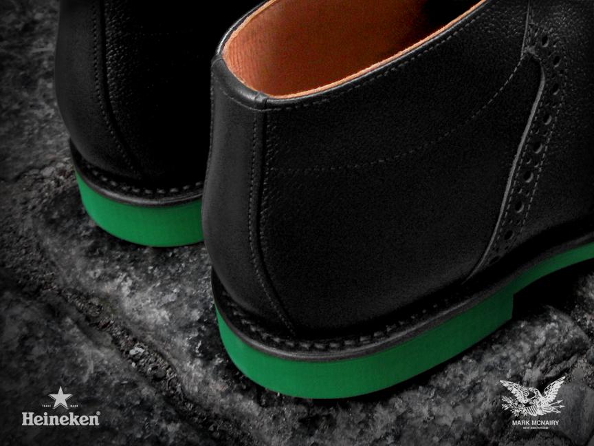 #Heineken100 Mark McNairy Black Chukka Saddle Boots Rear