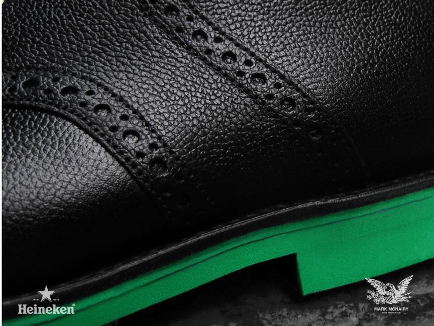 #Heineken100 Mark McNairy Black Chukka Saddle Boots Sole