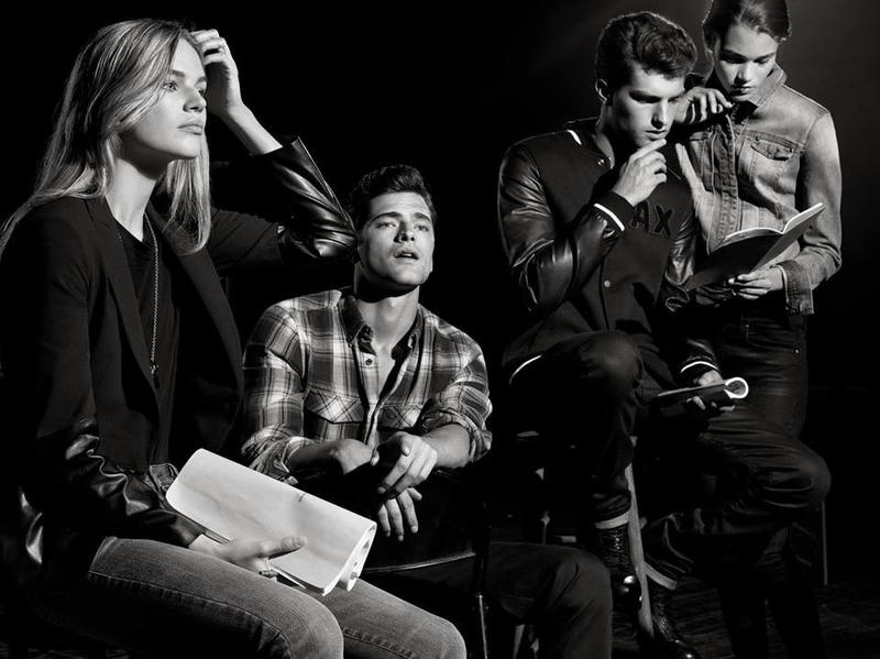sean opry amp paolo anchisi star in armani exchange fall