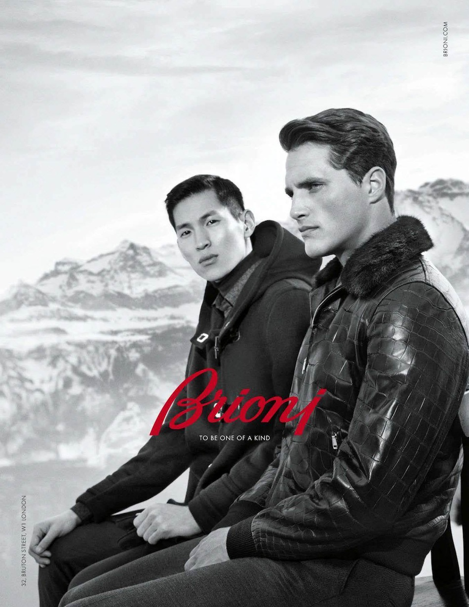 Ollie Edwards & Jae Yoo Star in Brioni Fall/Winter 2013 Campaign