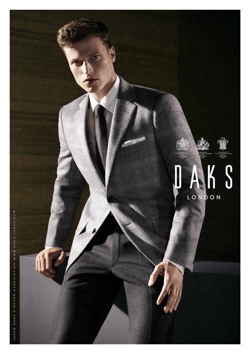 A Sharp Dressed Lars Burmeister Fronts DAKS Fall/Winter 2013 Campaign