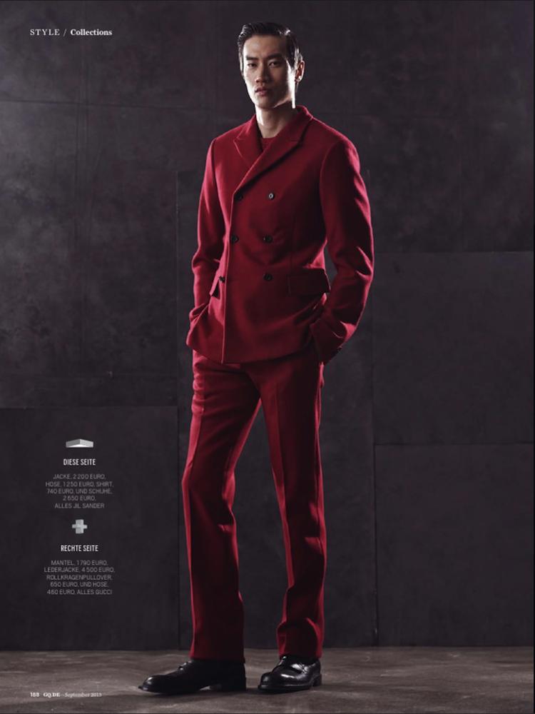 Mathias Lauridsen, Adam Senn, Philip Huang + More Don Fall Designs for GQ Germany