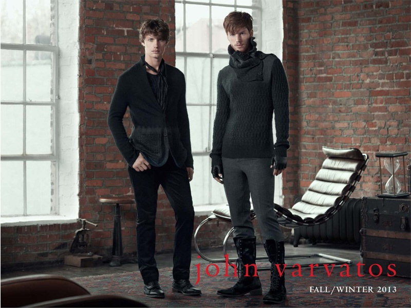 Hampus Lück & Andrew Smith for John Varvatos Fall/Winter 2013