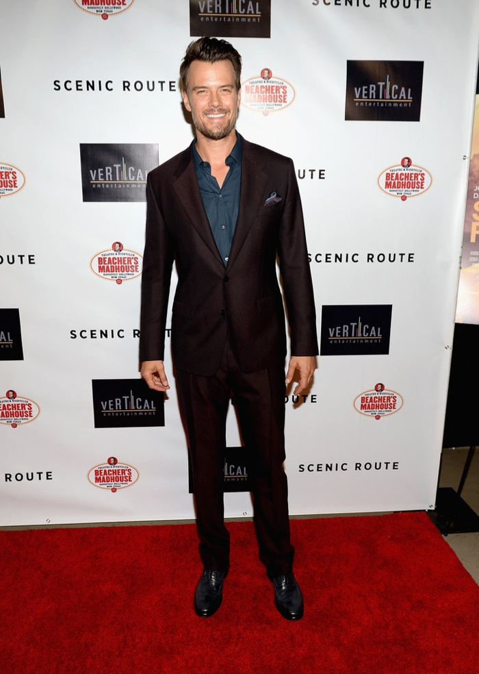 Josh Duhamel Wears Dolce & Gabbana to Premiere of 'Scenic Route'