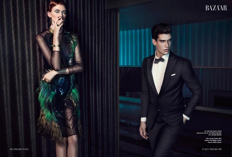 Kaylan Morgan Dresses Up for Harper's Bazaar Vietnam