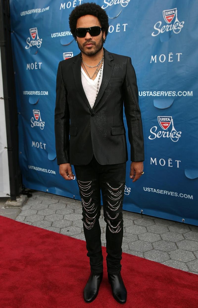 Lenny Kravitz in Saint Laurent