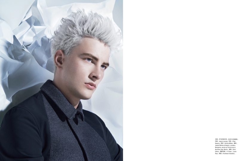 Jester White & Benjamin Jarvis Duel for the September Issue of Numero Homme China