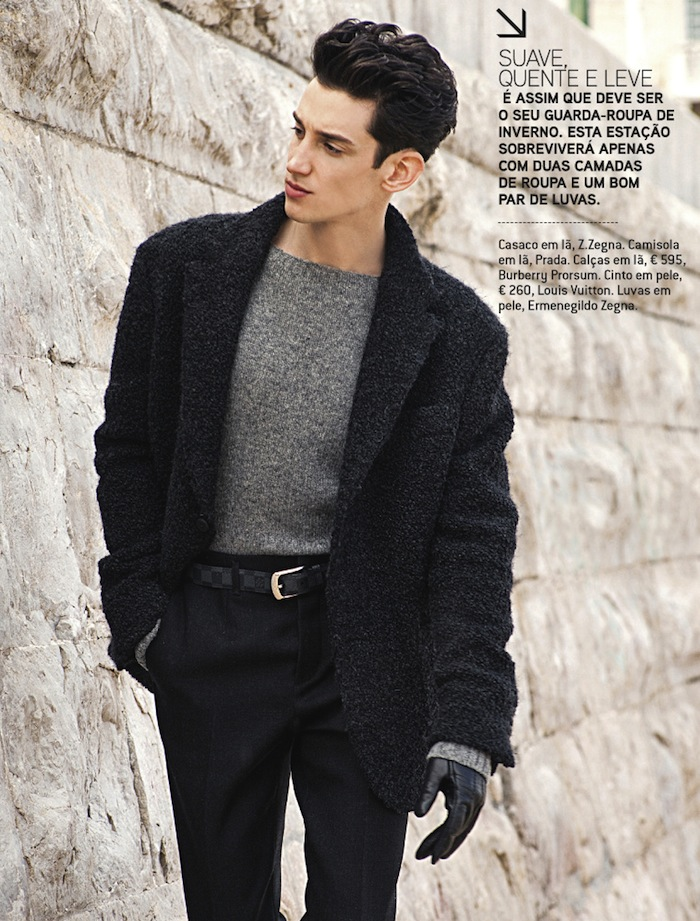 Andrey Smidl Models Refined Styles for GQ Portugal's September Issue