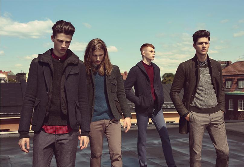 Simone Nobili, Jake Shortall, Ash Stymest & Viggo Jonasson Front T.I for Men Fall/Winter 2013 Campaign