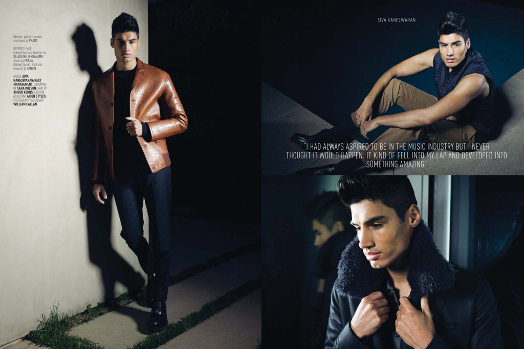 Siva Kaneswaran from The Wanted Strikes a Pose for August Man