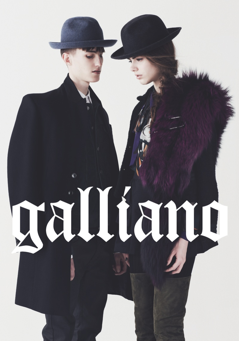 Kristoffer Hasslevall Fronts Galliano Fall/Winter 2013 Campaign