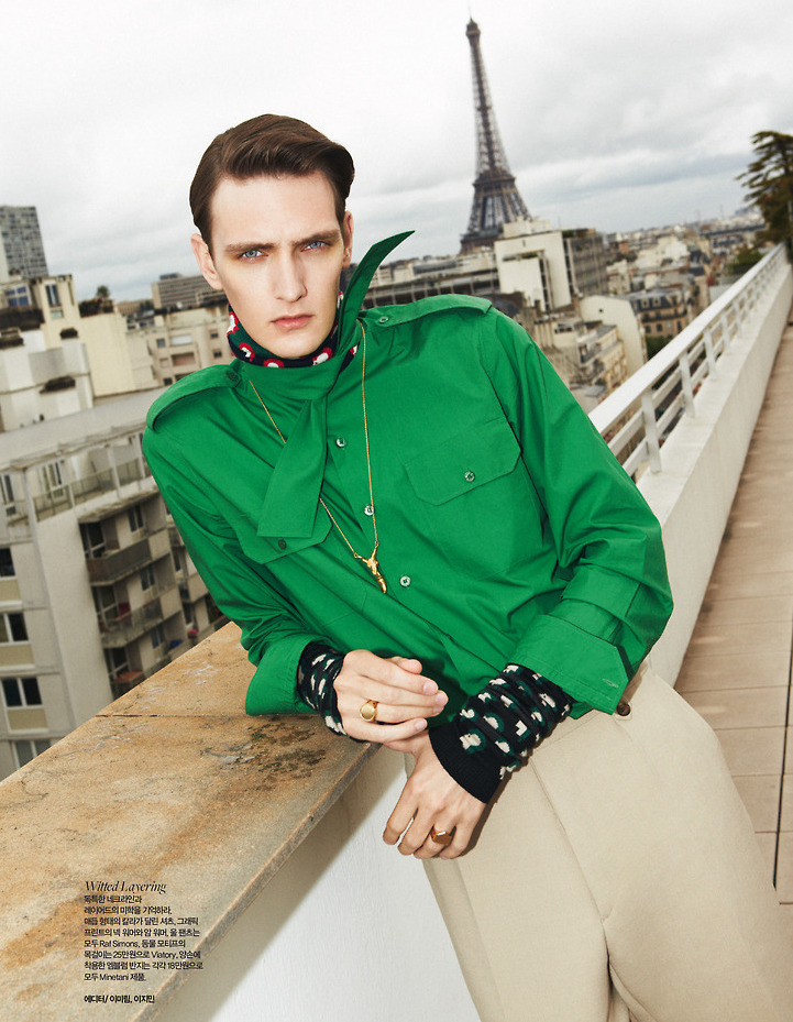 Yannick Abrath Models the Fall Collections for Harper's Baazar Man Korea
