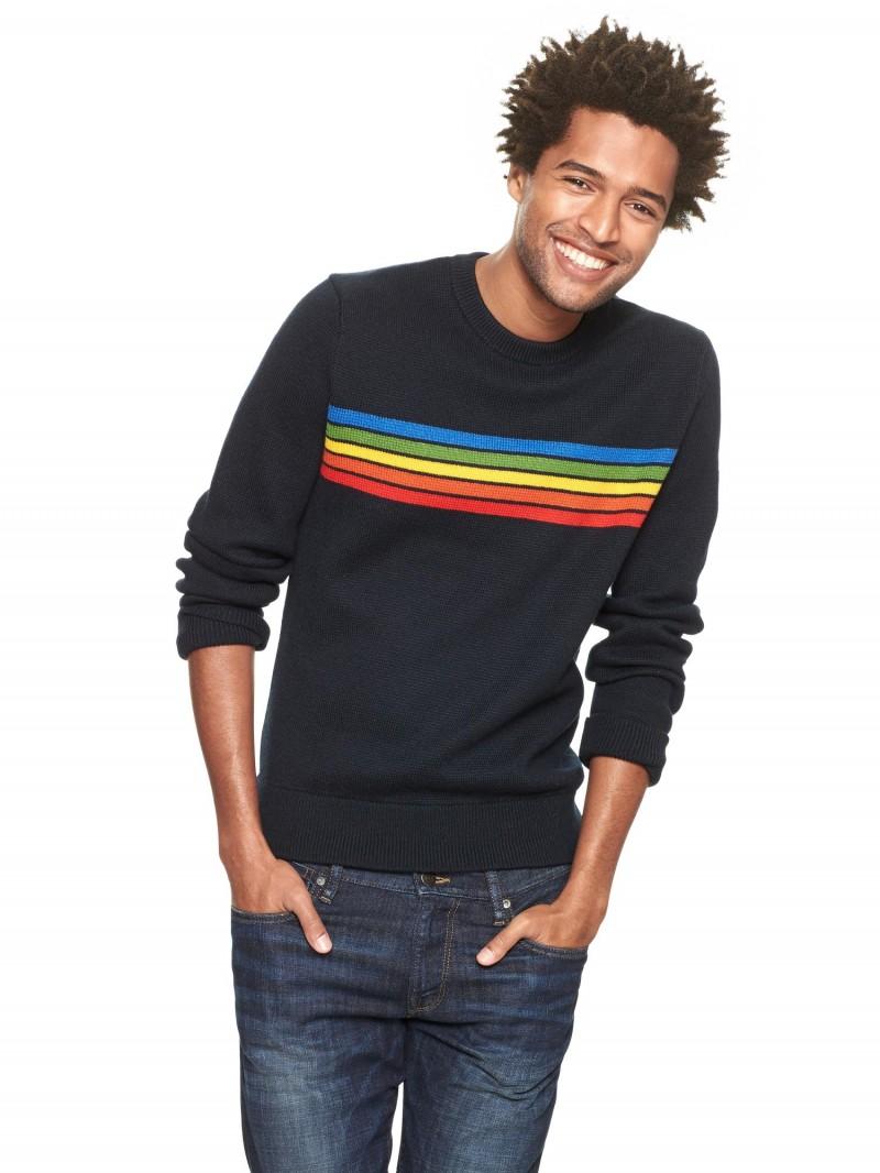 Gap x GQ Aviator Nation Five Stripe Sweater