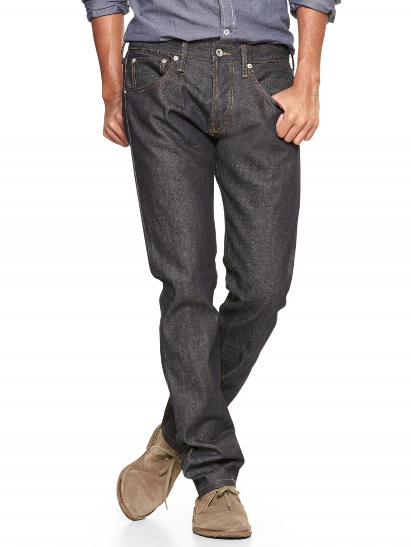 Gap x GQ Baldwin Henley Fit Jeans (raw selvage)
