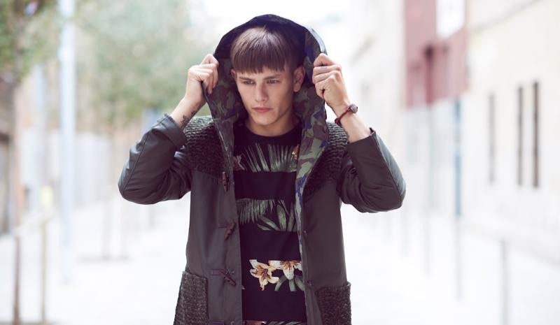 Luke Worrall Models Bershka's September Looks