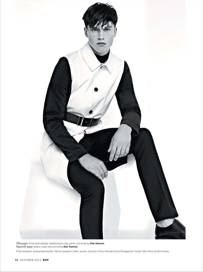 Otto Pierce Sports Dior Homme Fall/Winter 2013 for Out Magazine