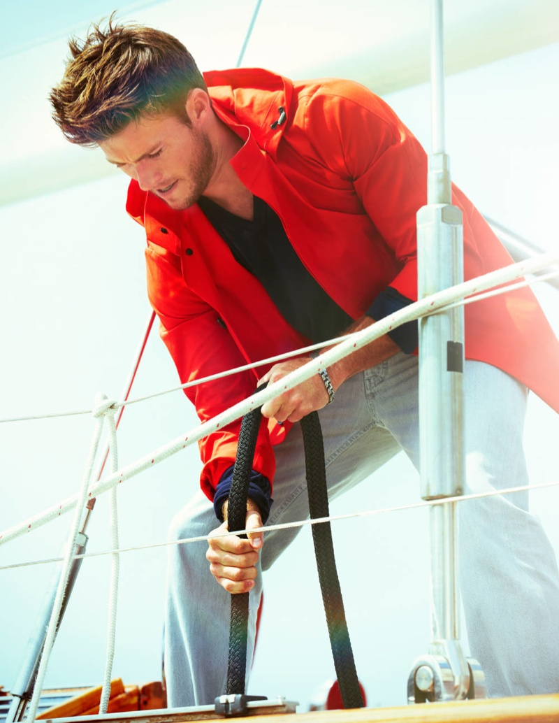 Scott Eastwood Stars in a Nautical Spread for Town & Country