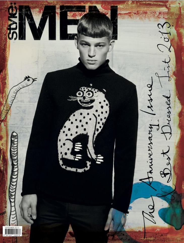 A Louis Vuitton Clad Sebastian Sauve Covers Style: Men Singapore's September Issue