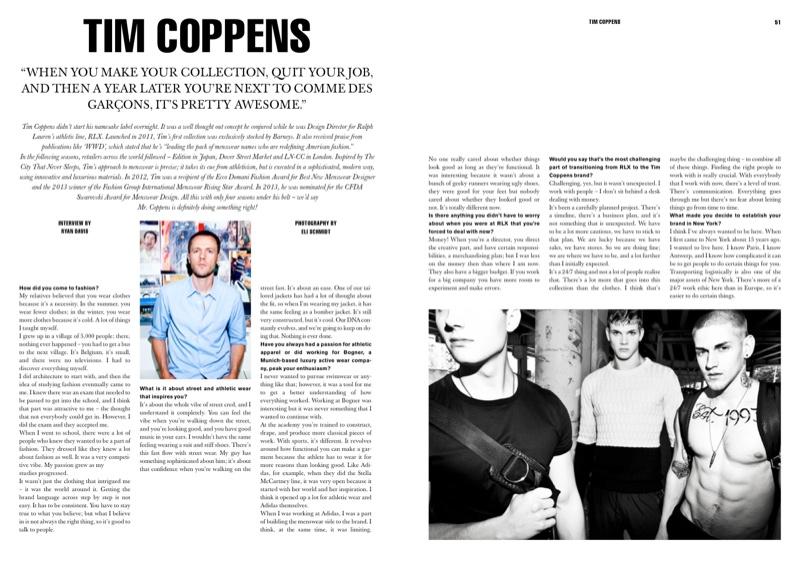 Eli Schmidt Photographs Tim Coppens Fall/Winter 2013 for Idol Magazine