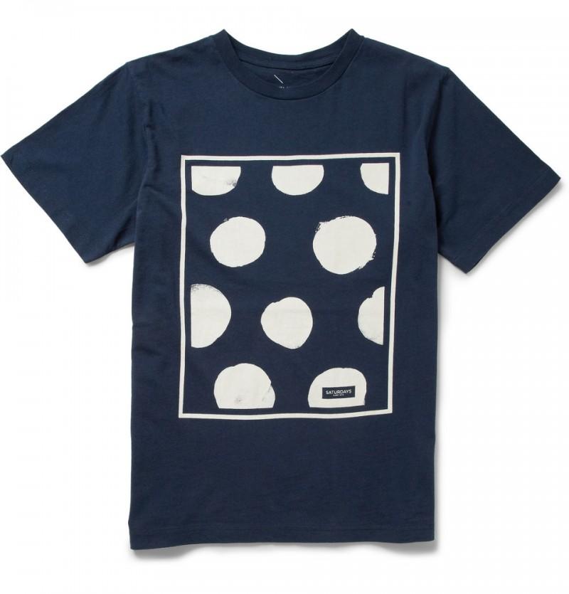 Saturdays Surf NYC Polka Dot Cotton Jersey T-Shirt