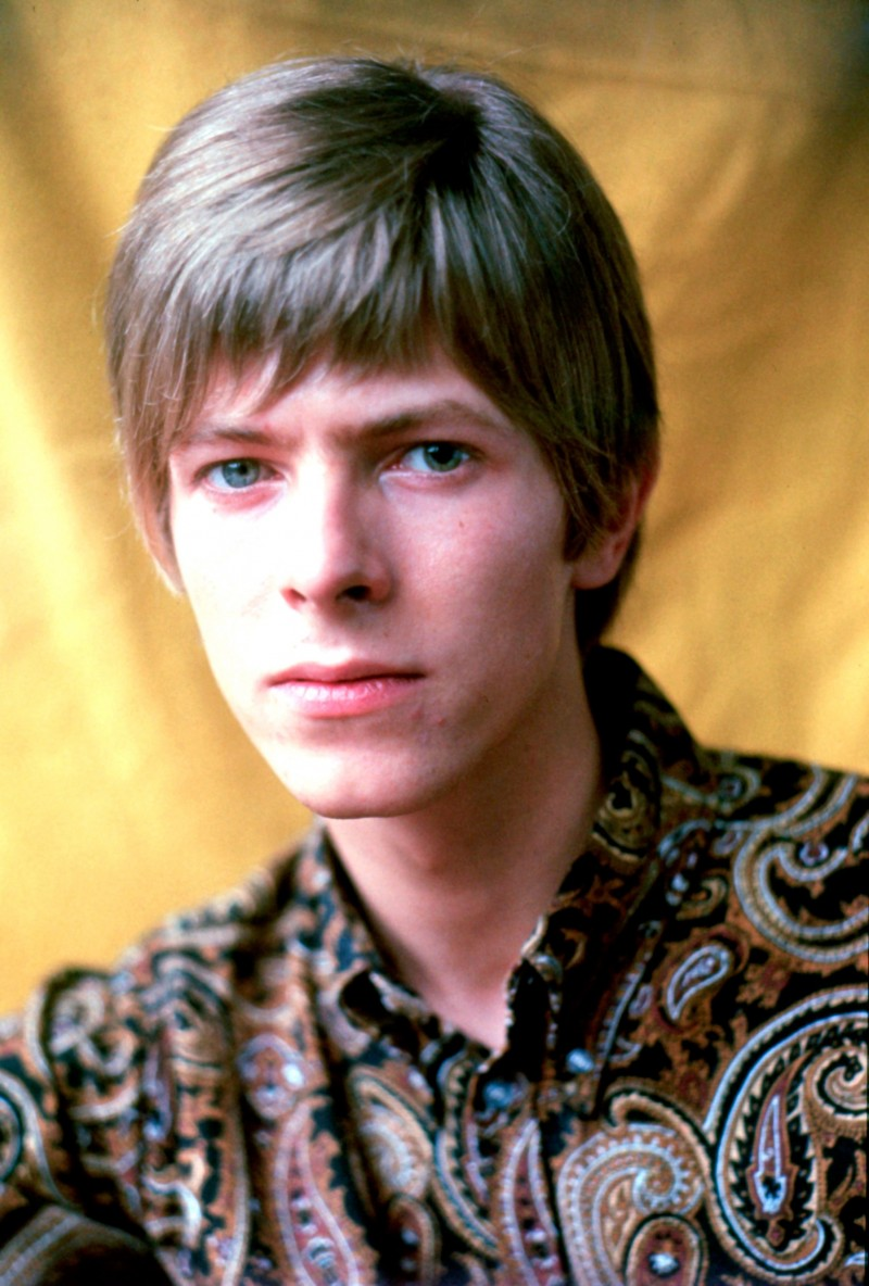 David Bowie rocks a paisley shirt in 1967.