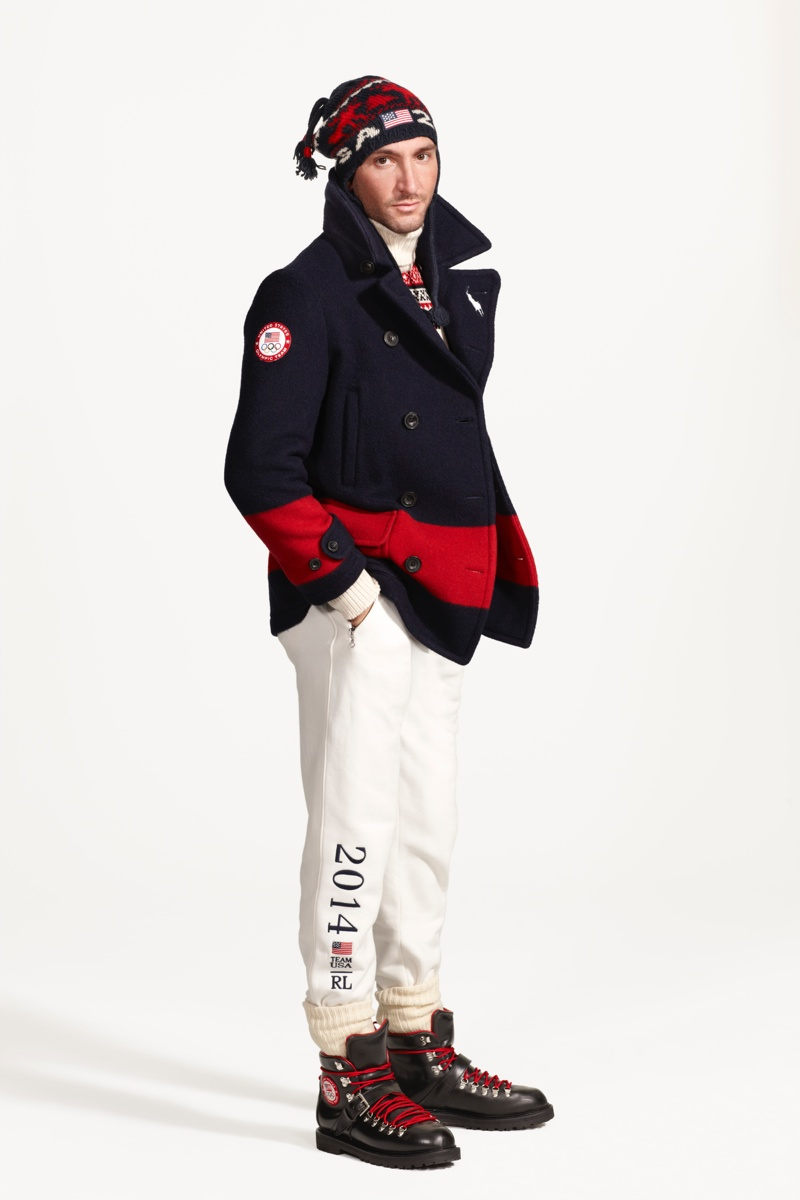 Evan Lysacek in Ralph Lauren Closing Ceremony