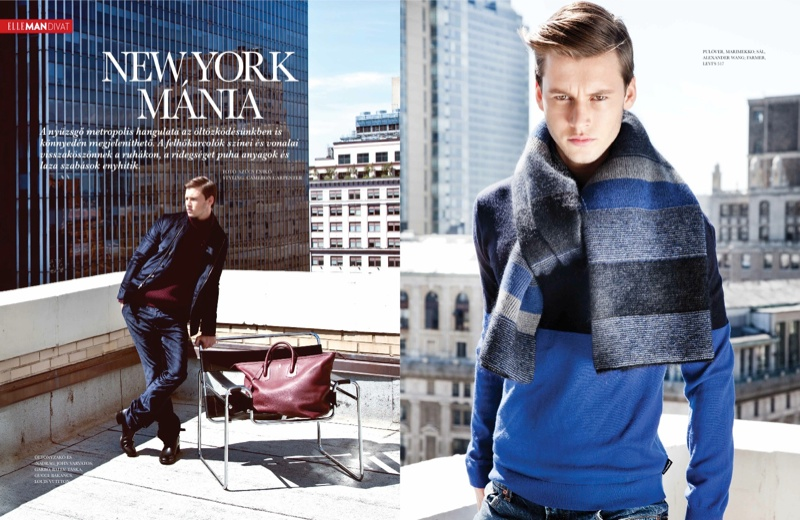 Alfred Kovac Heads to the Big Apple for Elle Man Hungary
