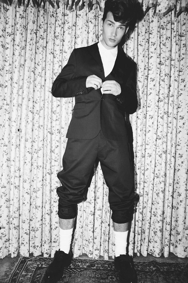 Brandon Gray Wears Dark Fall Fashions for Hunger TV