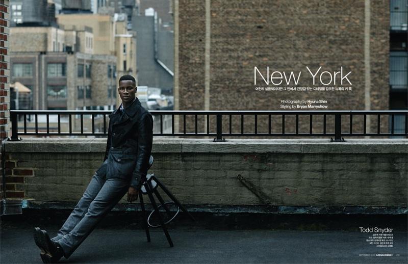 David Agbodji Wears Designer Looks for Arena Homme+ Korea