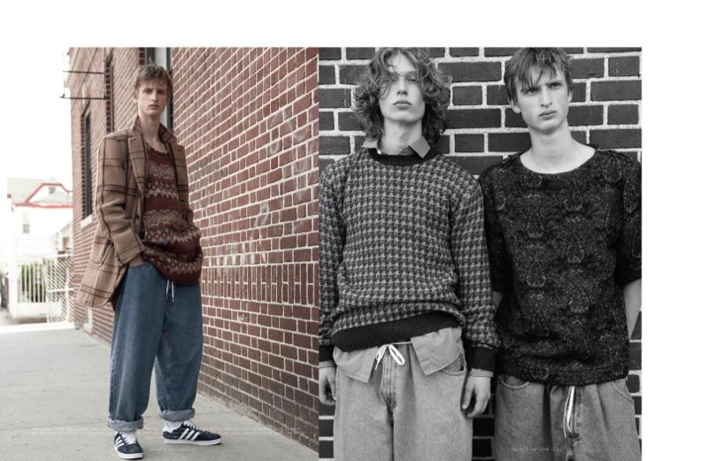 Alexander Barna & Dylan River Sport Baggy Styles for Dazed & Confused