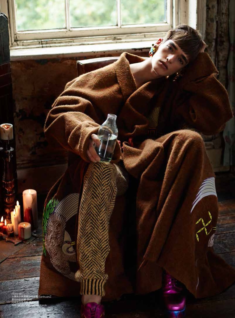 Florentin Glemarec Dons Fall Tribal Prints For Gq Style