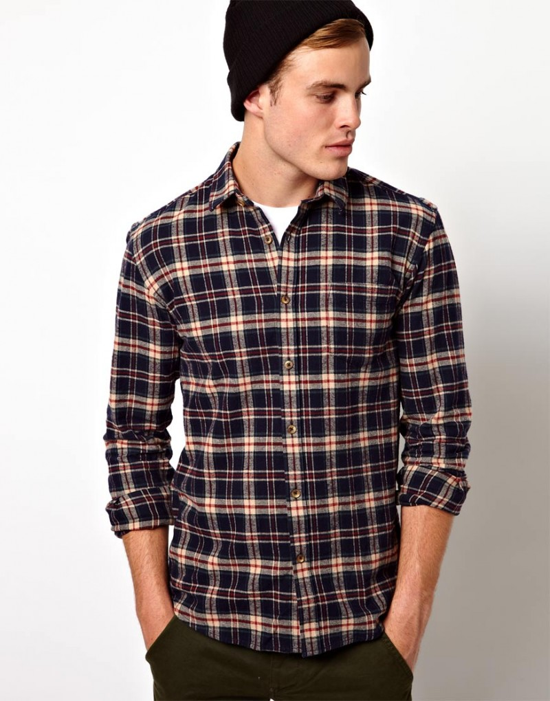 Selected Check Flannel Shirt