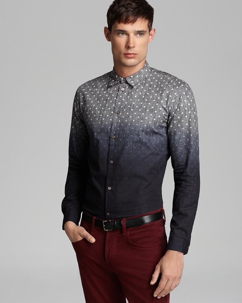 Paul Smith Ombre Polka Dot Sport Shirt - Slim Fit