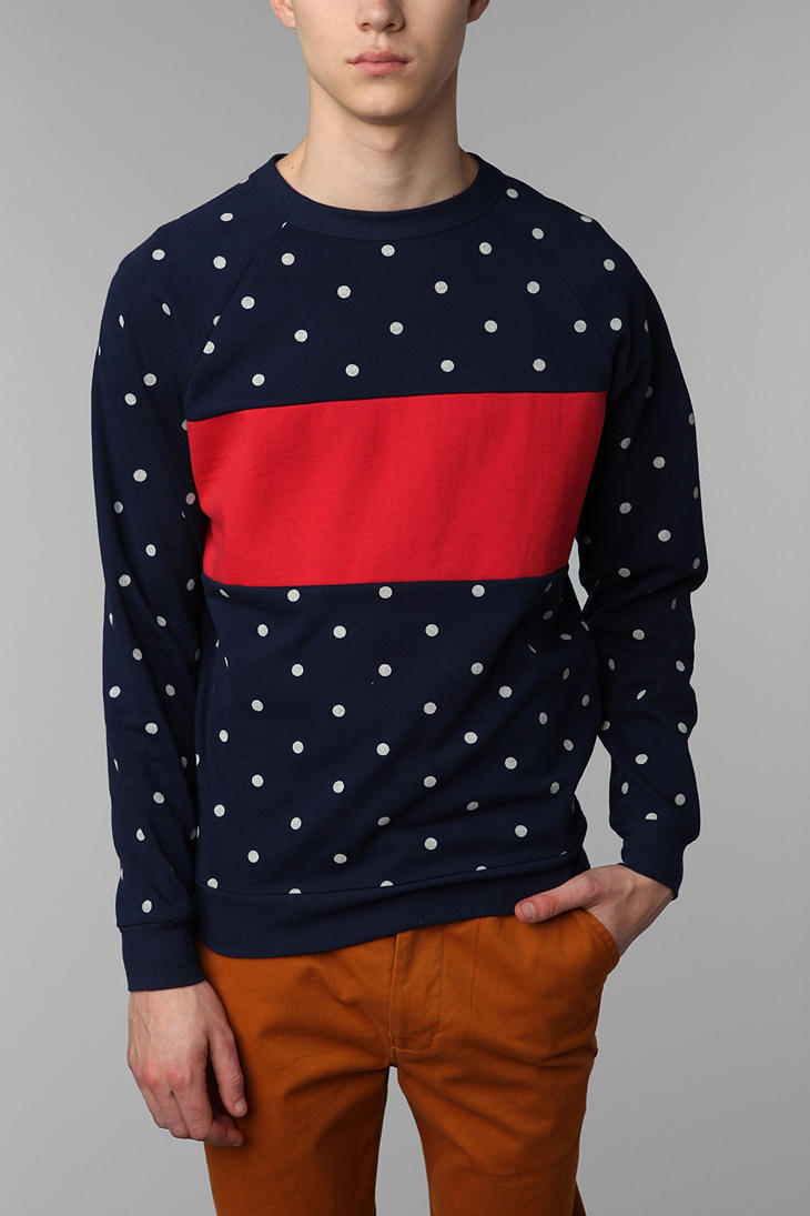 Polka Red Stripe Pullover Sweatshirt