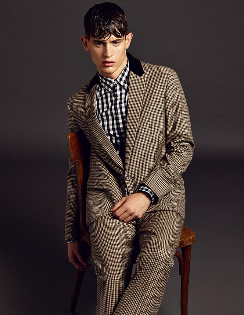 Jakub Pastor Dons Prada Fall/Winter 2013 Menswear for Top Fashion Magazine