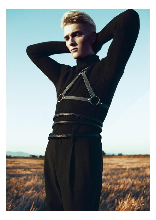 Nicklas Kingo Dons Z Zegna Fall/Winter 2013 for Horse Magazine