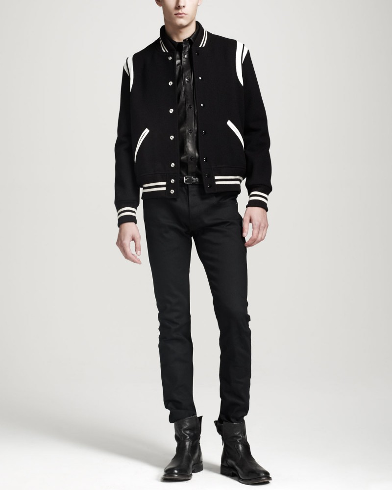 1f405ab0e85 Fall's Must-Have | The Saint Laurent Varsity Jacket