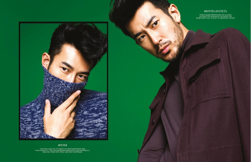 Takeshi Watanabe Sports Designer Fall Looks for L'Officiel Hommes Singapore