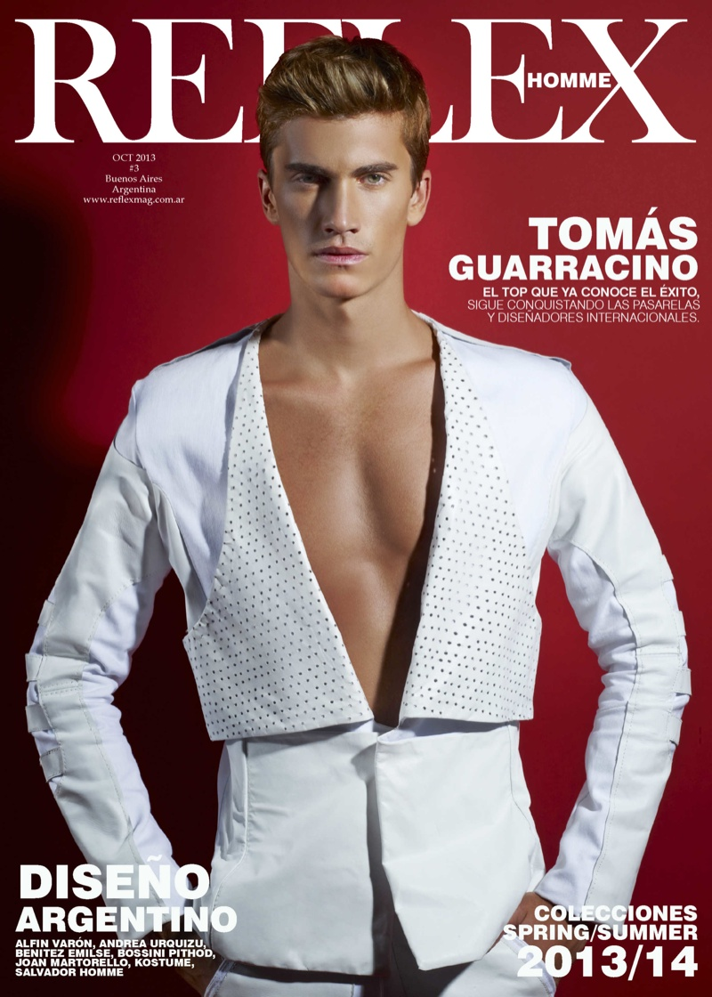 Tomas Guarracino Covers Reflex Homme