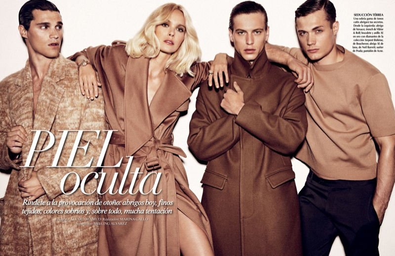 Steven Chevrin & Jules Raynal Wear Monochromatic Looks for Vogue Mexico