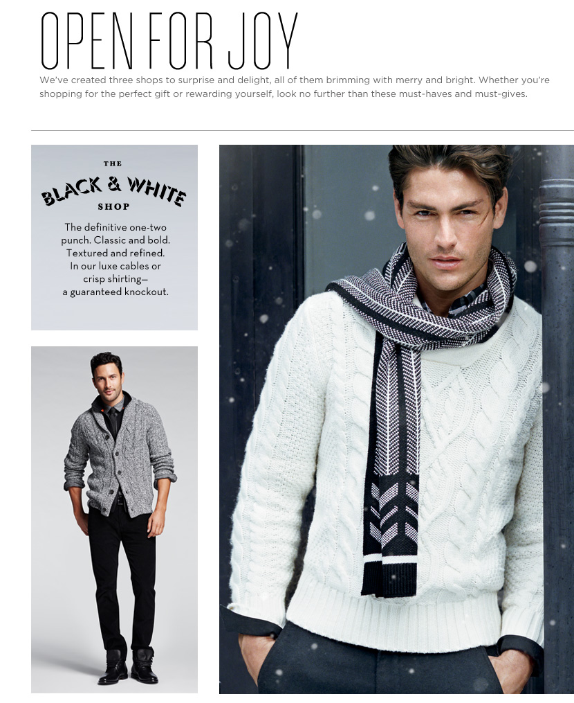 Tyson Ballou, Noah Mills, Daniel Lonnstrom & Corey Baptiste Celebrate the Holiday Season with Banana Republic