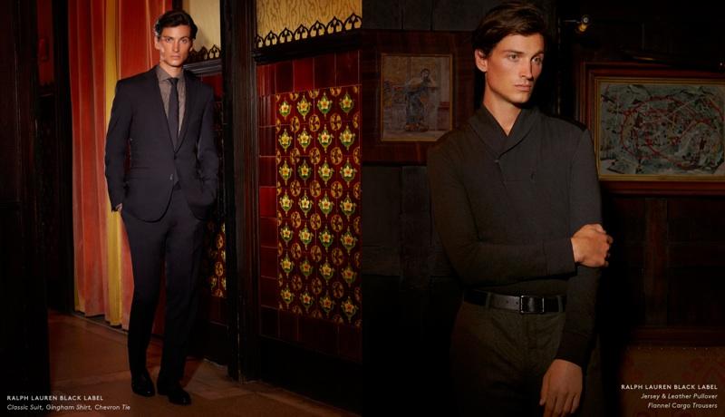 Matt Clunan Wears Ralph Lauren Black Label for Barneys New York