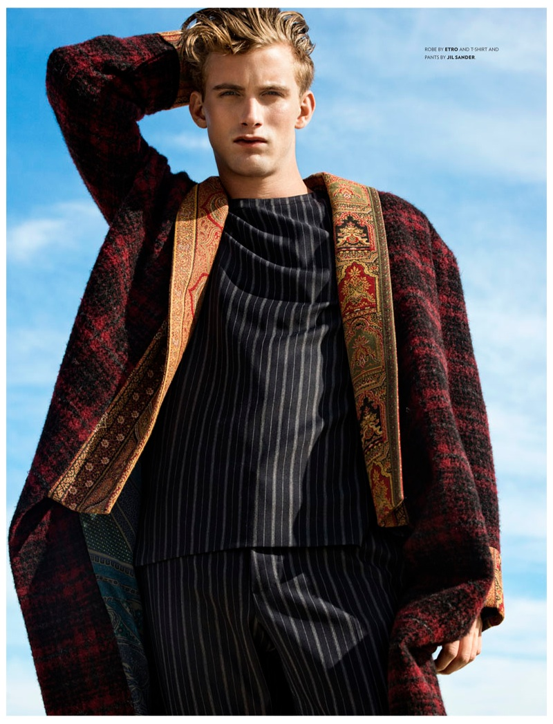 RJ King Hits the Beach in Fall Styles for Flaunt