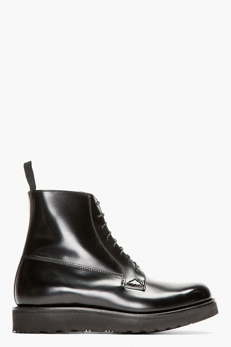 Grenson SSENSE EXCLUSIVE BLACK LEATHER DOUBLE SOLE JAKE BOOTS