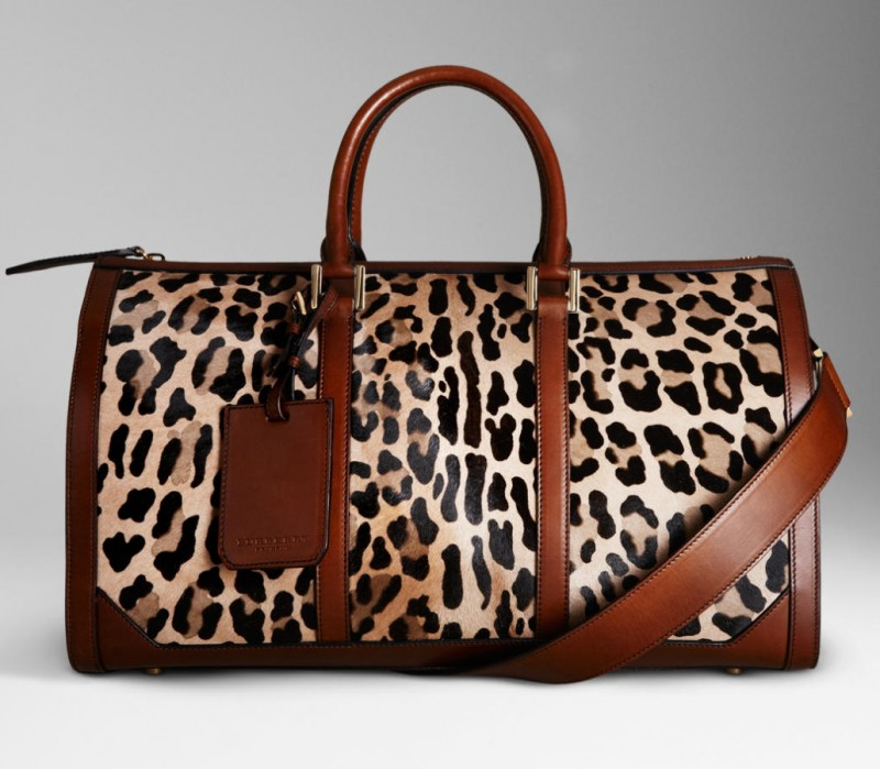 Burberry The Boston in Spotted Animal Print