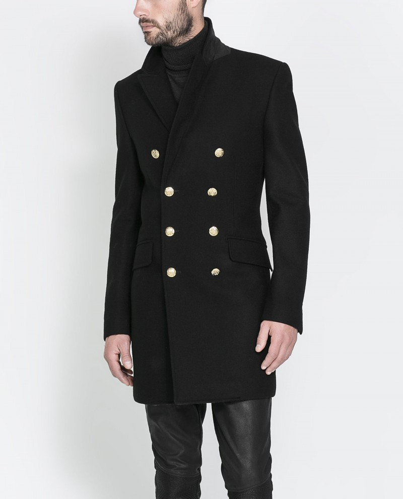 Zara Overcoat with Gold Buttons