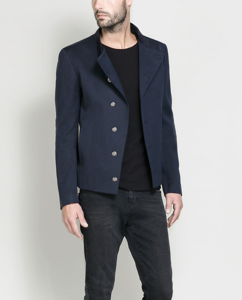 Zara Short Jacket with Silver Buttons