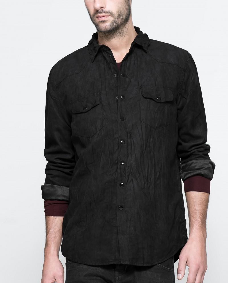 Zara Faux Leather Shirt
