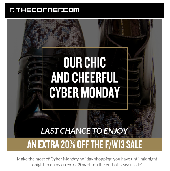 TheCorner.com Cyber Monday Sale